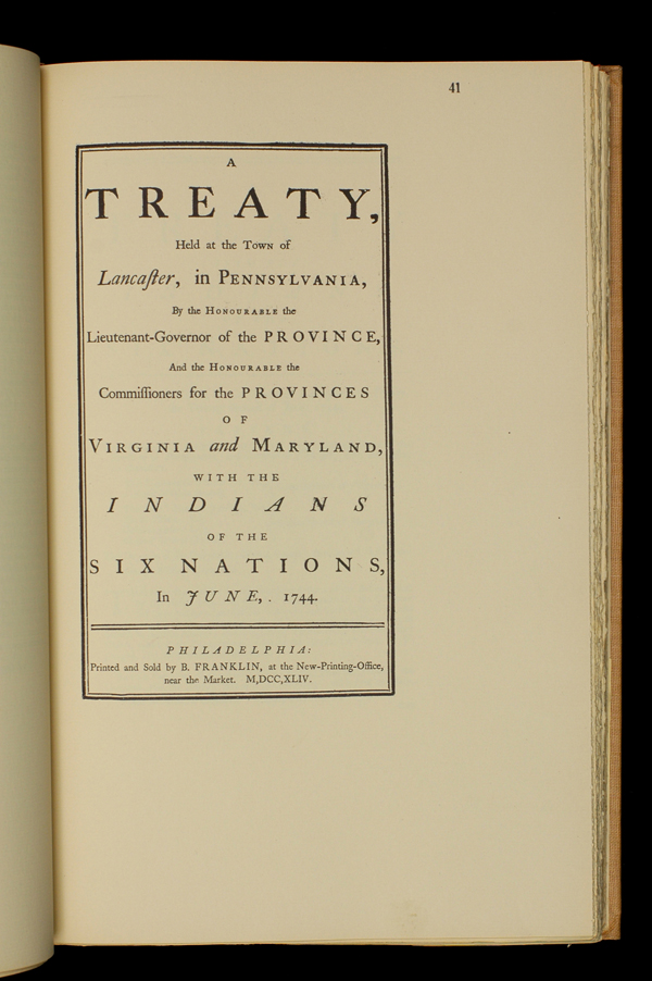 the historical genesis objective and outcome of the lancaster treaty of 1744
